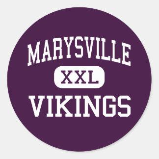 Marysville - Vikings - High - Marysville Michigan Classic Round Sticker
