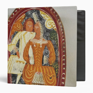 Marzipan box depicting a man and woman, c.1660 vinyl binder