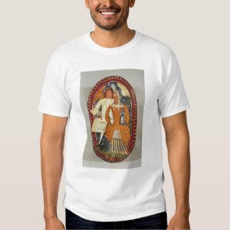 Marzipan box depicting a man and woman, c.1660 shirts