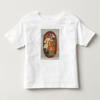 Marzipan box depicting a man and woman, c.1660 t-shirts
