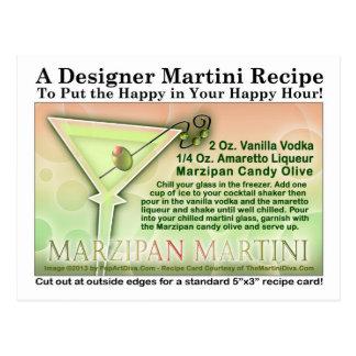 Marzipan Martini Recipe Postcard