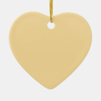 Marzipan Yellow Heart Ornament