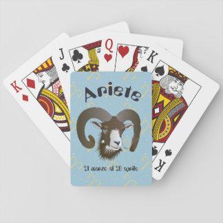 Marzo 20 Giochi Aprile di Ariete 21 al carte Barajas De Cartas