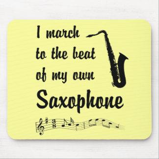 Marzo al golpe: Saxofón Mousepad