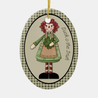 Marzo Ana Raggedy suerte O el ornamento irlandés Ornamento Para Arbol De Navidad