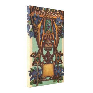 Marzo - aries impresión en lona estirada