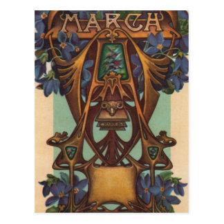 Marzo - aries tarjeta postal