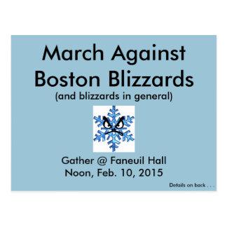 ¡Marzo contra las ventiscas 2015 de Boston!! Tarjeta Postal