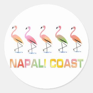 Marzo de la COSTA tropical de los flamencos NAPALI Pegatina