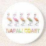 Marzo de la COSTA tropical de los flamencos NAPALI Posavasos Cerveza