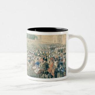 Marzo de las fuerzas aliadas en París, 1815 Taza De Dos Tonos