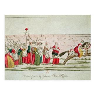Marzo de las mujeres en Versalles Tarjetas Postales