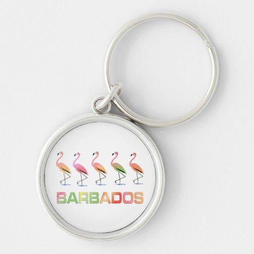 Marzo de los flamencos tropicales BARBADOS Llavero Personalizado