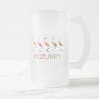 Marzo de los flamencos tropicales COZUMEL Tazas