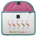 Marzo de los flamencos tropicales HAWAII Funda Para Macbooks