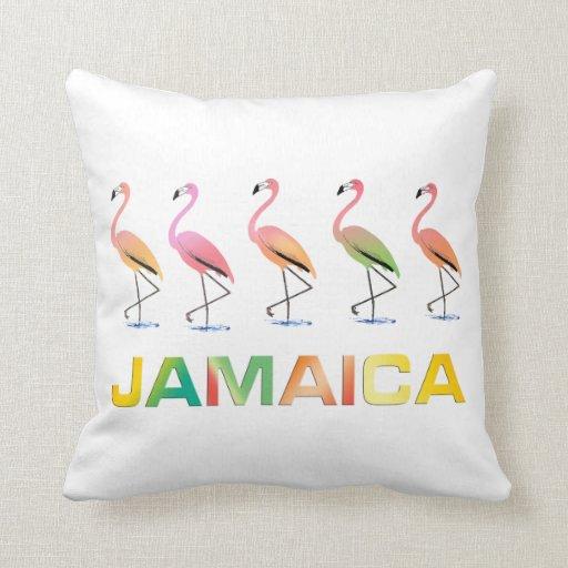 Marzo de los flamencos tropicales JAMAICA Almohada