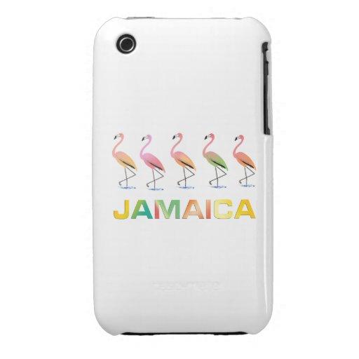 Marzo de los flamencos tropicales JAMAICA Case-Mate iPhone 3 Cobertura