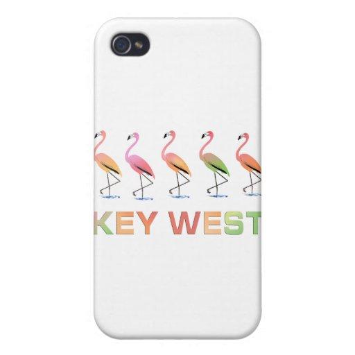 Marzo de los flamencos tropicales KEY WEST iPhone 4 Fundas