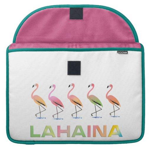 Marzo de los flamencos tropicales LAHAINA Funda Para Macbook Pro