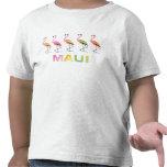 Marzo de los flamencos tropicales MAUI Camisetas