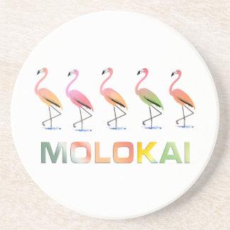 Marzo de los flamencos tropicales MOLOKAI Posavasos Cerveza