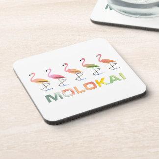 Marzo de los flamencos tropicales MOLOKAI Posavasos De Bebida