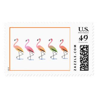 Marzo de los flamencos tropicales timbres postales