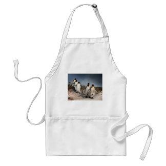 Marzo de los pingüinos delantal