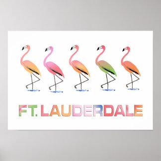 Marzo del LAUDERDALE tropical del pie de los flame Poster