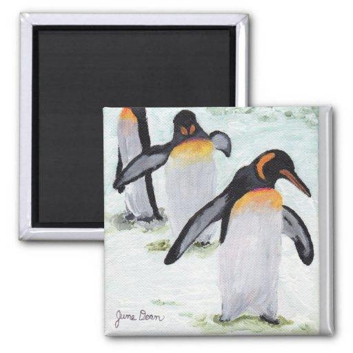 Marzo del pingüino iman de frigorífico