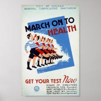 Marzo en salud del tho póster
