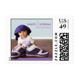 Marzo para el sello 2009 de los bebés