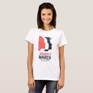 Marzo SLO - gráfico nacional blanco de las mujeres Playera