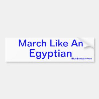 Marzo tiene gusto de un egipcio pegatina de parachoque