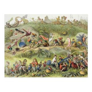 Marzo triunfal del Duende-Rey, ejemplo de Postales