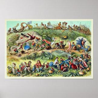Marzo triunfal del rey Poster del duende