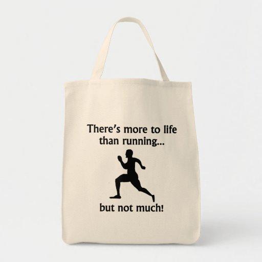 Más a la vida que corriendo bolsas lienzo