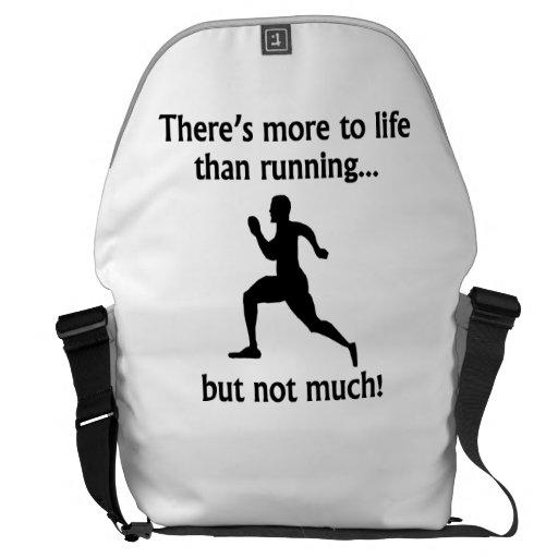 Más a la vida que corriendo bolsa de mensajería