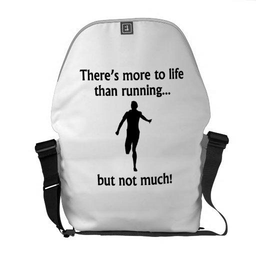 Más a la vida que corriendo bolsa de mensajeria