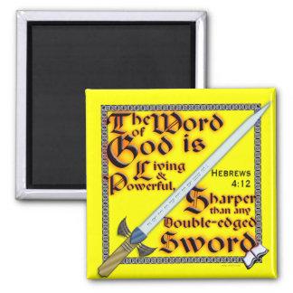 Más aguda que una espada de doble filo - imán
