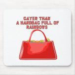 Más alegre que un bolso por completo de arco iris alfombrilla de ratón