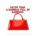 Más alegre que un bolso por completo de arco iris postales