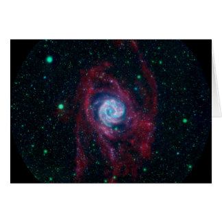 Más allá de la frontera de una galaxia tarjeta de felicitación