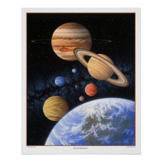 Más allá de la impresión casera del planeta poster
