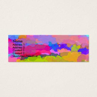 Más allá de la tarjeta del perfil del arco iris tarjetas de visita mini