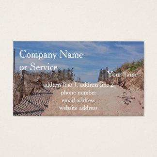 Más allá de las dunas tarjetas de visita