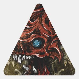 Más allá de los cráneos colcomanias triangulo personalizadas