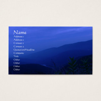 Más allá de tarjeta del perfil de la oscuridad tarjetas de visita