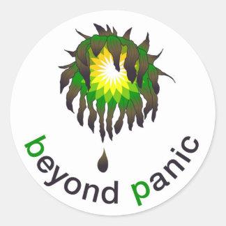 Más allá del pegatina de BP del pánico