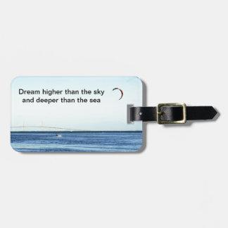 Más alto ideal etiqueta de equipaje